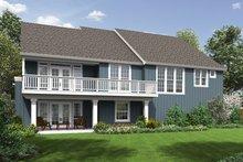 House Plan Design - Craftsman Exterior - Rear Elevation Plan #48-670