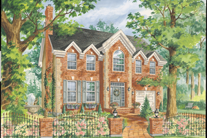 Colonial Exterior - Front Elevation Plan #25-4767