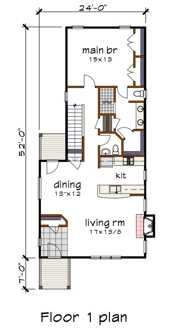 Home Plan - Modern Floor Plan - Main Floor Plan #79-322