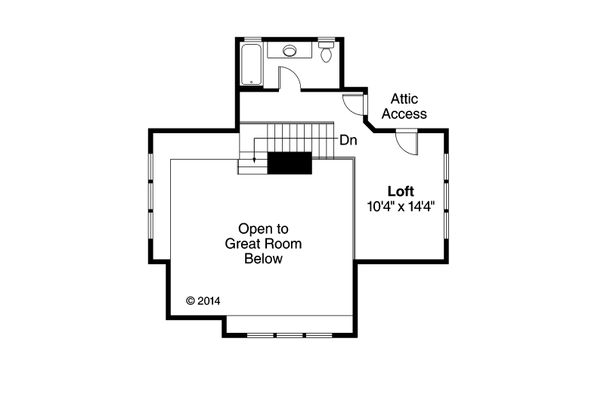 Craftsman Floor Plan - Upper Floor Plan Plan #124-1149