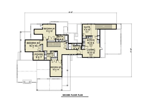 Dream House Plan - Farmhouse Floor Plan - Upper Floor Plan #1070-132