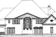 Classical Exterior - Rear Elevation Plan #119-176