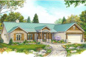 House Design - Country Exterior - Front Elevation Plan #140-192