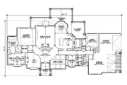 European Style House Plan - 5 Beds 5 Baths 4371 Sq/Ft Plan #5-346 Floor Plan - Main Floor