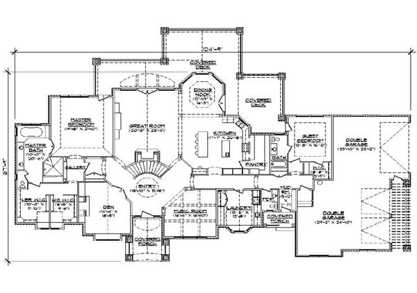 European Floor Plan - Main Floor Plan Plan #5-346