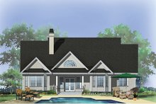 Country Exterior - Rear Elevation Plan #929-710