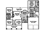Craftsman Style House Plan - 3 Beds 2 Baths 1800 Sq/Ft Plan #21-345 Floor Plan - Main Floor Plan