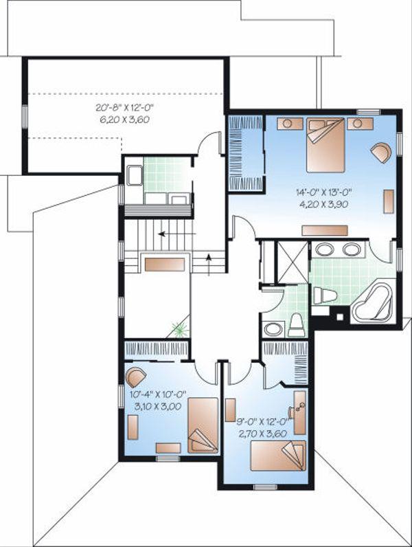 Farmhouse Floor Plan - Upper Floor Plan Plan #23-840