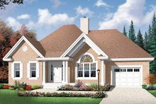 House Plan Design - Country Exterior - Front Elevation Plan #23-2431