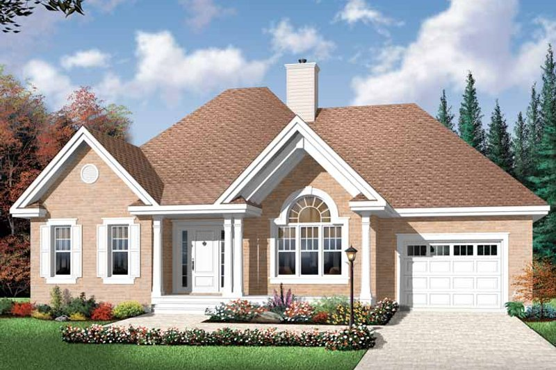 Country Exterior - Front Elevation Plan #23-2431