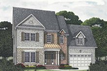 House Plan Design - Traditional Exterior - Front Elevation Plan #453-541