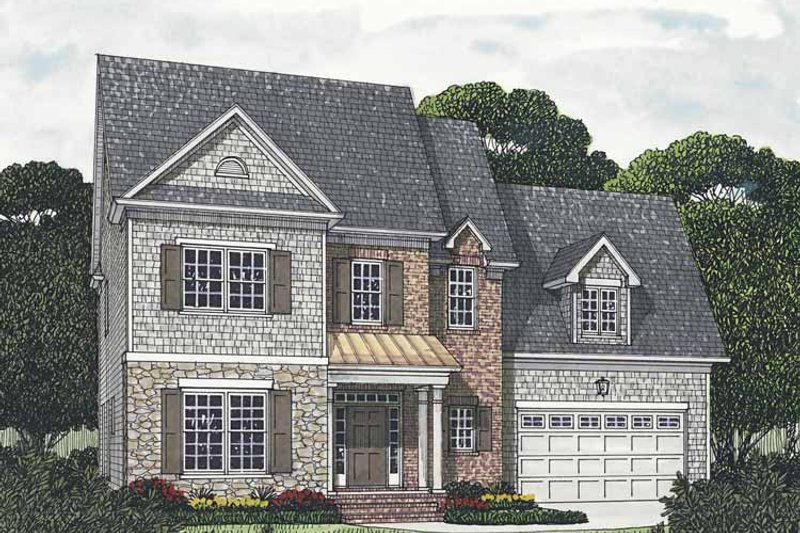 Traditional Exterior - Front Elevation Plan #453-541 - Houseplans.com