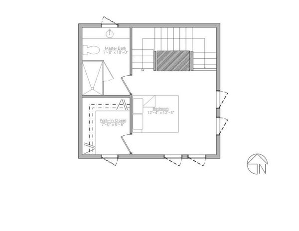 Modern Style House Plan - 1 Beds 1.5 Baths 735 Sq/Ft Plan #914-3 Floor Plan - Upper Floor Plan