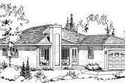 Traditional Style House Plan - 2 Beds 2 Baths 1274 Sq/Ft Plan #18-9059 Exterior - Front Elevation