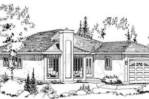Traditional Exterior - Front Elevation Plan #18-9059