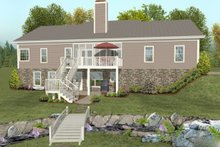 House Plan Design - Traditional Exterior - Rear Elevation Plan #56-606