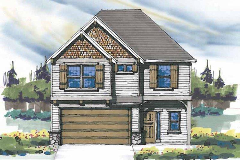 Craftsman Exterior - Front Elevation Plan #509-283