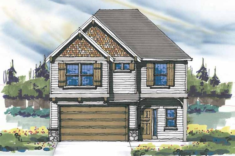 Craftsman Exterior - Front Elevation Plan #509-283