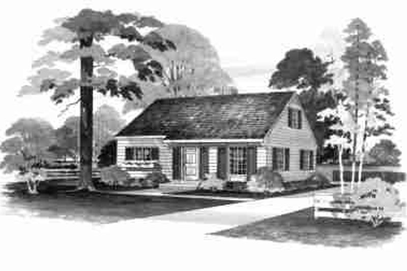 Colonial Exterior - Front Elevation Plan #72-294