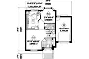 European Style House Plan - 4 Beds 1 Baths 2048 Sq/Ft Plan #25-4712 Floor Plan - Main Floor Plan
