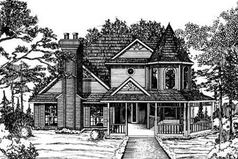 Dream House Plan - Victorian Exterior - Front Elevation Plan #310-631