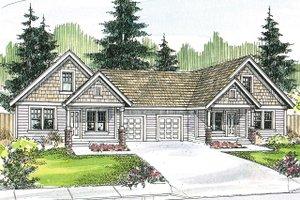 Craftsman Exterior - Front Elevation Plan #124-709