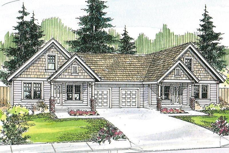 Dream House Plan - Craftsman Exterior - Front Elevation Plan #124-709