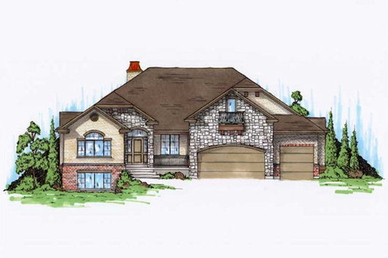 Home Plan - European Exterior - Front Elevation Plan #5-369