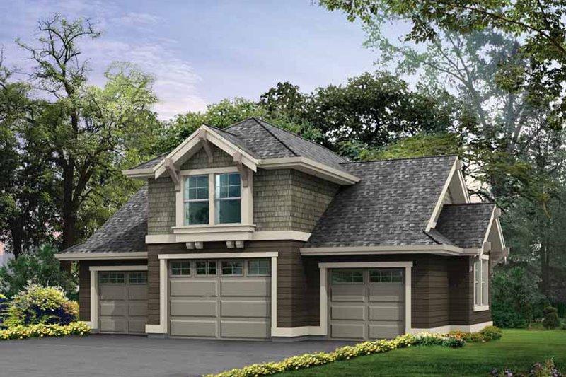 Craftsman Exterior - Front Elevation Plan #132-285