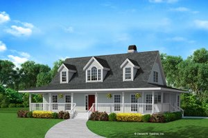 Country Exterior - Front Elevation Plan #929-87
