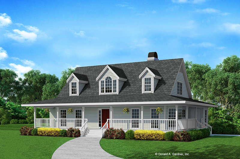 Architectural House Design - Country Exterior - Front Elevation Plan #929-87