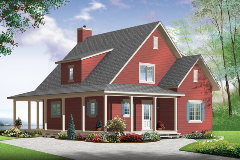 Country Exterior - Front Elevation Plan #23-2582