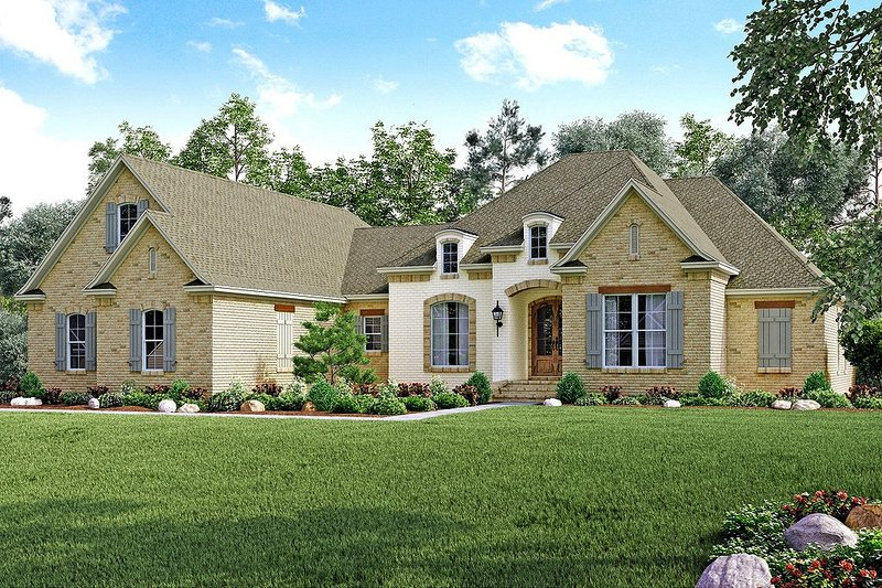 Dream House Plan - European Exterior - Front Elevation Plan #430-130
