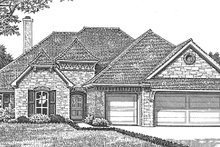 Home Plan - European Exterior - Front Elevation Plan #310-1258