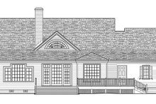 House Plan Design - Country Exterior - Rear Elevation Plan #137-366