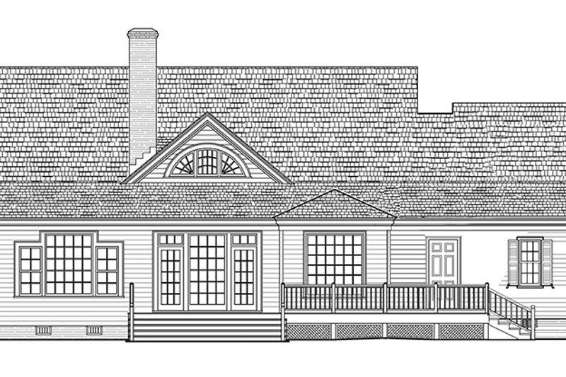Country Exterior - Rear Elevation Plan #137-366 - Houseplans.com
