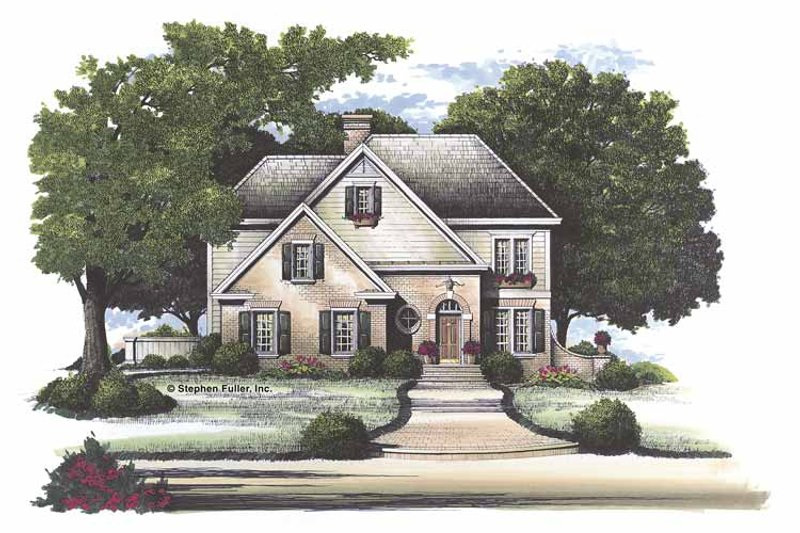Traditional Exterior - Front Elevation Plan #429-118 - Houseplans.com