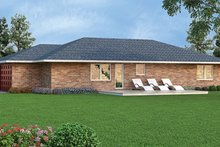 Architectural House Design - Colonial Exterior - Rear Elevation Plan #45-563