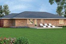 Dream House Plan - Colonial Exterior - Rear Elevation Plan #45-563