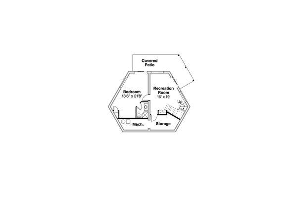 Traditional Floor Plan - Lower Floor Plan Plan #124-1168