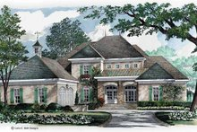 European Exterior - Front Elevation Plan #952-282
