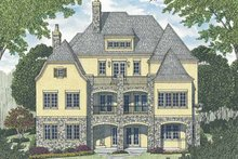 Architectural House Design - European Exterior - Rear Elevation Plan #453-603