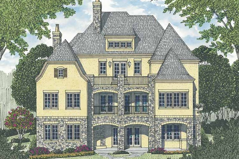 European Exterior - Rear Elevation Plan #453-603 - Houseplans.com