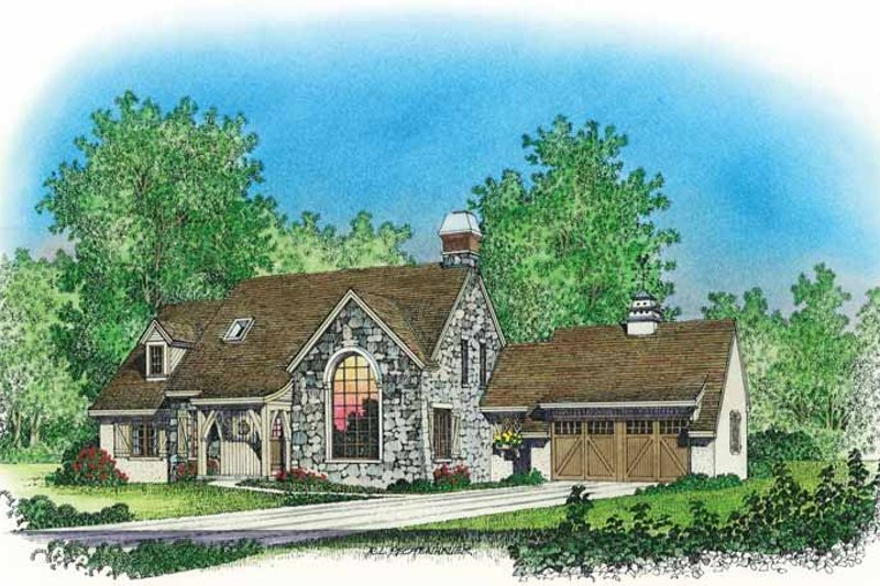 Country Exterior - Front Elevation Plan #1016-81