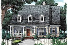 Colonial Exterior - Front Elevation Plan #927-803