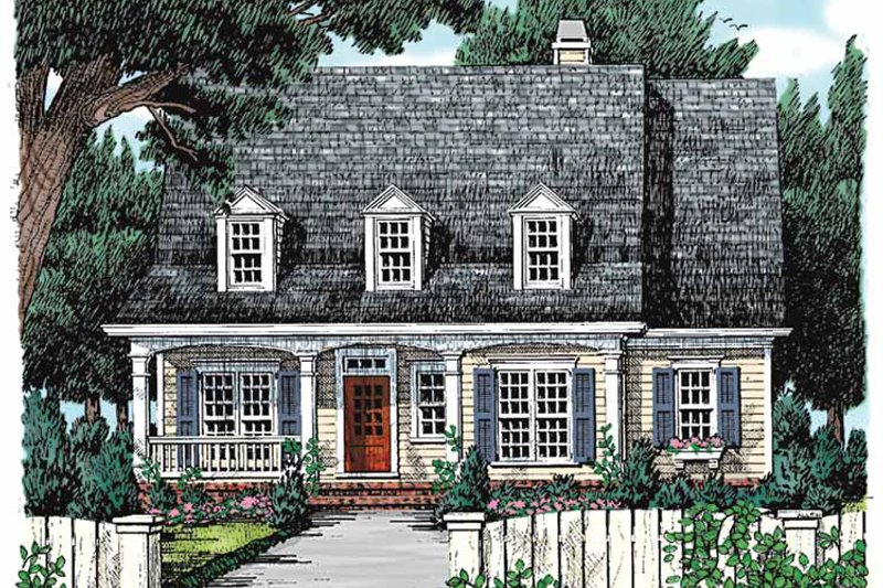 Colonial Exterior - Front Elevation Plan #927-803 - Houseplans.com