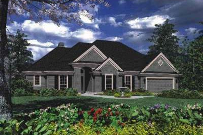 Traditional Exterior - Front Elevation Plan #48-123 - Houseplans.com
