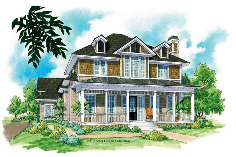 Victorian Exterior - Front Elevation Plan #930-210