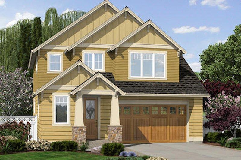 Craftsman Exterior - Front Elevation Plan #48-499