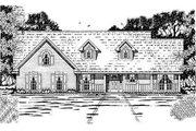 Country Style House Plan - 3 Beds 2 Baths 1823 Sq/Ft Plan #42-248 Exterior - Front Elevation